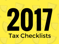 2017 Tax Checklists