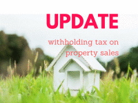 UPDATE - Withholding tax on property sales