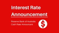 RBA Decision - No Change To Interest Rates